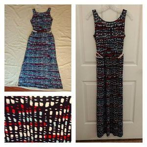 Merona printed maxi dress size S